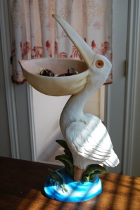 Pelican full of leftover Valentine's candy