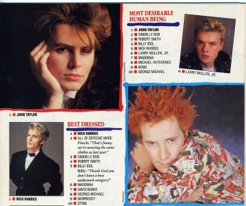 "Don't worry; Johnny Rotten was not desirable in the least; he was #2 for ""Hairdo From Hell."""