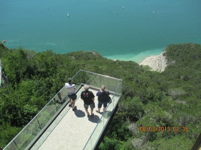 lower glass railing viewing deck