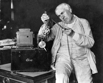 Edison in the middle of inventing everything we've ever heard of