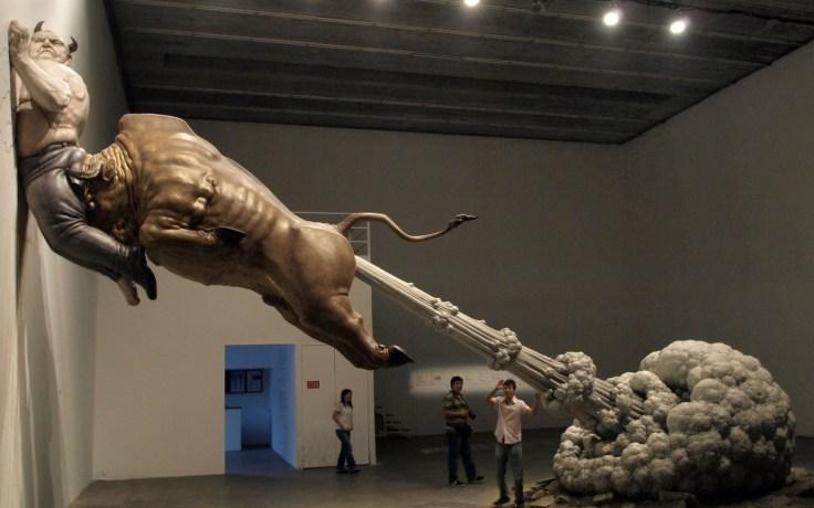 farting-bull-crushes-demon-art