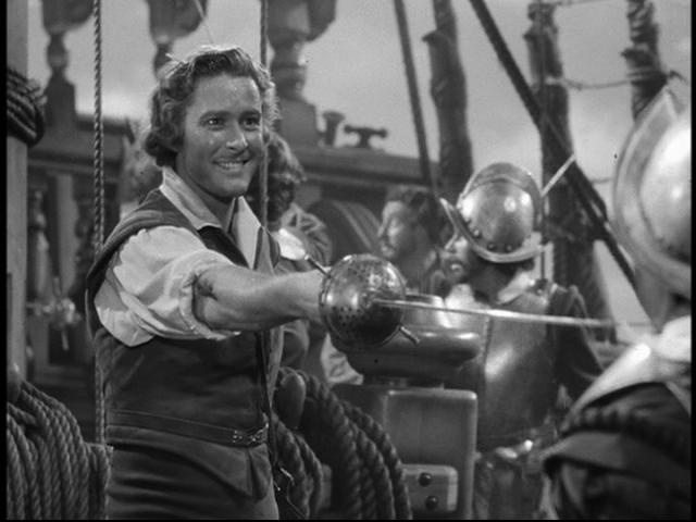 "The fearless and fabulous Flynn in 1940's ""The Sea Hawk"""