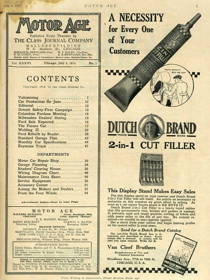Motor Age 1919