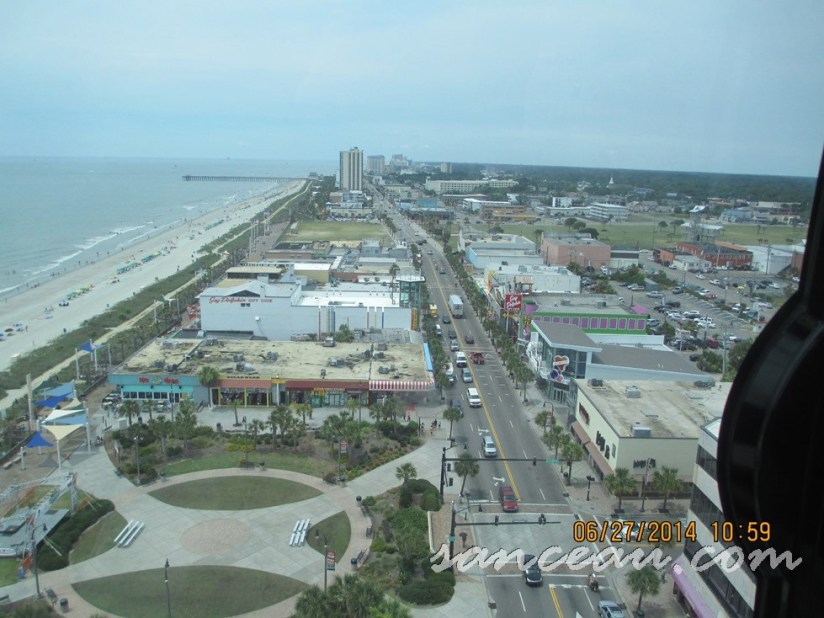 view of Myrtle Beach from Sky Wheel