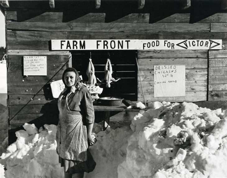 """Augusta, Maine farmstand 40s from Okrent's """"The Way We Were"""""""