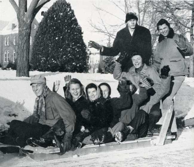 Oklahoma A&M students ushering in the new year in 1947