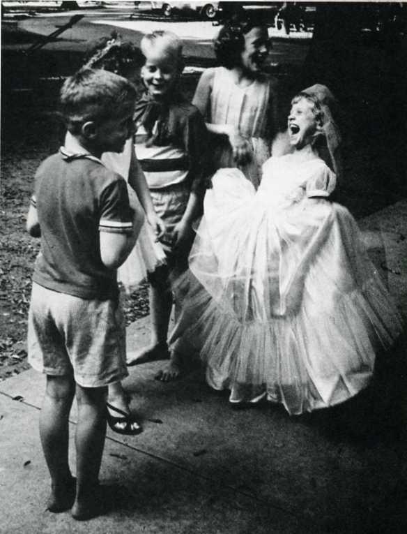 Children participating in a mock marriage, North Carolina 1963