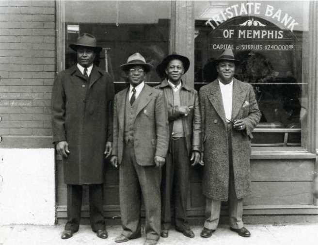 Tri-State Bank opening, Memphis 1946 by Rev. Lonzie Odie Taylor