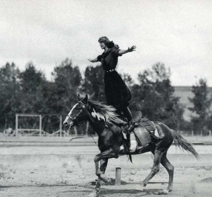 "Tillie Baldwin ""Woman World Champion Bucking Horse, Trick and Fancy Rider"""