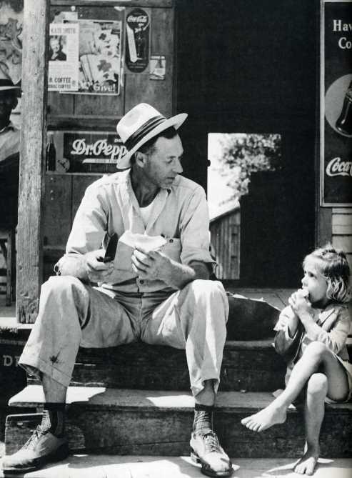 Walter Duplantis and daughter Clara Ann, Louisiana 1947 from