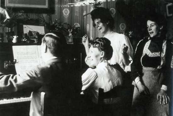 British family gathered at the piano circa 1910--Readers Digest UK