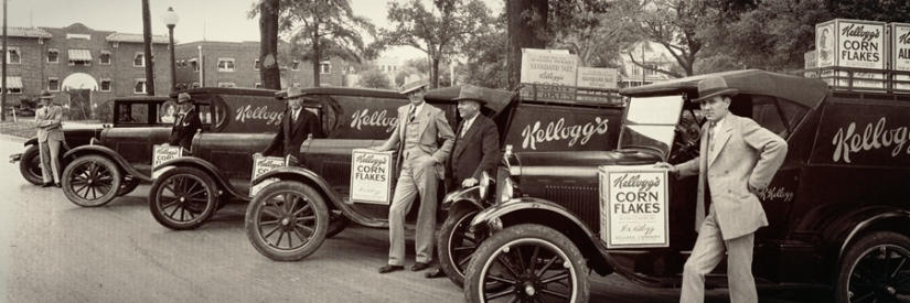 Kellogg's salesman at Root Memorial Square, Houston 1928