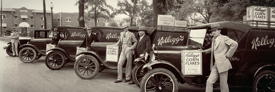 Kellogg's salesman at Root Memorial Square, Houston 1928