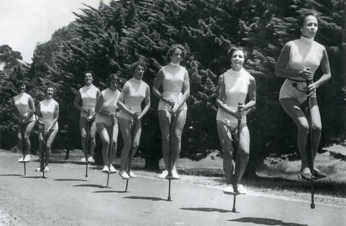 Herald Sun - Cheltenham pogo stick bouncers 1955