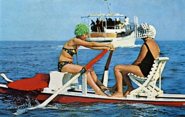 Surf buggy on the Gulf of Rapallo, Natl Geographic June 1963